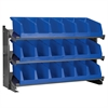 Bench Pick Rack w/ 3 System Bins, Gray/Blue