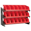 Bench Pick Rack w/ 3 System Bins, Gray/Red