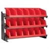 Akro-Mils Bench Pick Rack w/ 3 System Bins, Gray/Red