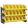 Bench Pick Rack w/ 3 System Bins, Gray/Yellow
