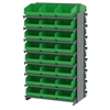 Akro-Mils 12 2-Sided Pick Rack, 48 ShelfMax, Gray/Green
