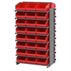 Akro-Mils 12 2-Sided Pick Rack, 48 ShelfMax, Gray/Red