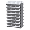 12 2-Sided Pick Rack, 48 ShelfMax, Gray/White