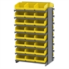 12 2-Sided Pick Rack, 48 ShelfMax, Gray/Yellow