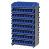 12 2-Sided Pick Rack, 128 ShelfMax, Gray/Blue