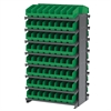 Akro-Mils 12 2-Sided Pick Rack, 128 ShelfMax, Gray/Green