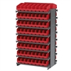 Akro-Mils 12 2-Sided Pick Rack, 128 ShelfMax, Gray/Red