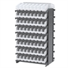 Akro-Mils 12 2-Sided Pick Rack, 128 ShelfMax, Gray/White