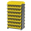 12 2-Sided Pick Rack, 128 ShelfMax, Gray/Yellow