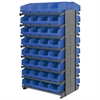 12 2-Sided Pick Rack, 64 ShelfMax, Gray/Blue