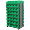 12 2-Sided Pick Rack, 64 ShelfMax, Gray/Green