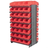 12 2-Sided Pick Rack, 64 ShelfMax, Gray/Red