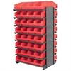 Akro-Mils 12 2-Sided Pick Rack, 64 ShelfMax, Gray/Red
