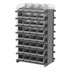 Akro-Mils 12 2-Sided Pick Rack, 64 ShelfMax, Gray/Clear