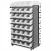12 2-Sided Pick Rack, 64 ShelfMax, Gray/White