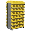 Akro-Mils 12 2-Sided Pick Rack, 64 ShelfMax, Gray/Yellow