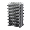 12 2-Sided Pick Rack, 80 ShelfMax, Gray/Clear