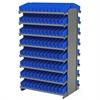 12 2-Sided Pick Rack, 192 Shelf Bins, Gray/Blue