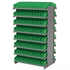 Akro-Mils 12 2-Sided Pick Rack, 192 Shelf Bins, Gray/Green