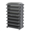 Akro-Mils 12 2-Sided Pick Rack, 192 Shelf Bins, Gray/Clear