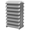 12 2-Sided Pick Rack, 192 Shelf Bins, Gray/Clar