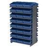 Akro-Mils 12 2-Sided Pick Rack, 48 AkroDrawers, Gray/Blue