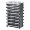 12 2-Sided Pick Rack, 48 AkroDrawers, Gray/Clear