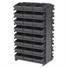 Akro-Mils 12 2-Sided Pick Rack, 48 AkroDrawers, Gray