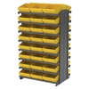 Akro-Mils 12 2-Sided Pick Rack, 48 AkroDrawers, Gray/Yellow