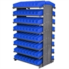 12 2-Sided Pick Rack, 144 Shelf Bins, Gray/Blue