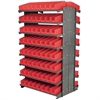 Akro-Mils 12 2-Sided Pick Rack, 144 Shelf Bins, Gray/Red