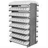 Akro-Mils 12 2-Sided Pick Rack, 144 Shelf Bins, Gray/White