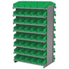 12 2-Sided Pick Rack, 84 Shelf Bins, Gray/Blue