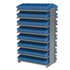 12 2-Sided Pick Rack, 144 AkroDrawers, Gray/Blue