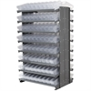 12 2-Sided Pick Rack, 144 AkroDrawers, Gray/Clear