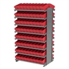 Akro-Mils 12 2-Sided Pick Rack, 144 AkroDrawers, Gray/Red