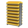Akro-Mils 12 2-Sided Pick Rack, 144 AkroDrawers, GrayYellow