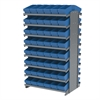 Akro-Mils 12 2-Sided Pick Rack, 96 AkroDrawers, Gray/Blue