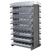 Akro-Mils 12 2-Sided Pick Rack, 96 AkroDrawers, Gray/Clear