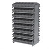 Akro-Mils 12 2-Sided Pick Rack, 96 AkroDrawers, Gray