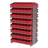 Akro-Mils 12 2-Sided Pick Rack, 96 AkroDrawers, Gray/Red