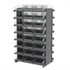 Akro-Mils 12 2-Sided Pick Rack, 48 Shelf Bins, Gray/Clear