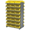 Akro-Mils 12 2-Sided Pick Rack, 48 Shelf Bins, Gray/Yellow