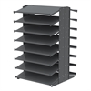 Akro-Mils 18 2-Sided Pick Rack, No Bins, Gray