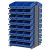 18 2-Sided Pick Rack, 48 ShelfMax, Gray/Blue