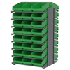 Akro-Mils 18 2-Sided Pick Rack, 48 ShelfMax, Gray/Green