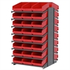 Akro-Mils 18 2-Sided Pick Rack, 48 ShelfMax, Gray/Red