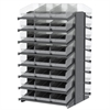 18 2-Sided Pick Rack, 48 ShelfMax, Gray/Clear