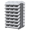18 2-Sided Pick Rack, 48 ShelfMax, Gray/White