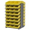 18 2-Sided Pick Rack, 48 ShelfMax, Gray/Yellow